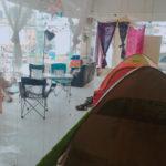 「お勧め」超快適過ぎた街中キャンプ @高松市。瓦町駅から徒歩5分、ビルの2Fが冷房完備手ぶらOKのキャンプ場に変身