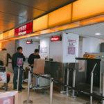 香港空港で一時荷物預けの場所 は?1時間12HK$ / 24時間 140HK$